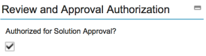 People - Authorised for SolutionApproval