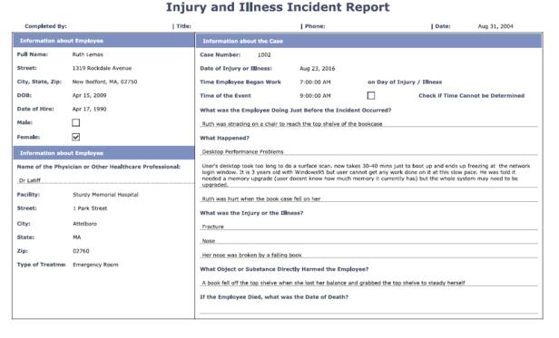 Report-InjuryIllness